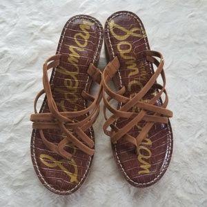 NWOT Sam Edelman Wedge Strappy Sandals